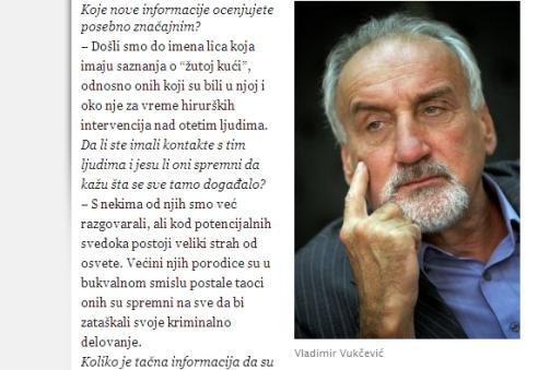 Vladimir Vukčević v rozhovoru pro Blic