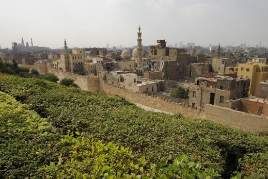 Káhira - pohled na východní hradby