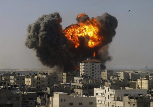 Výbuch v Rafáhu