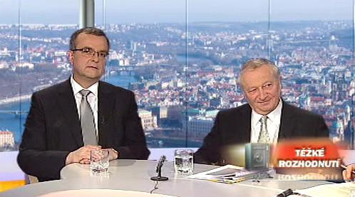 Miroslav Kalousek a Eduard Janota