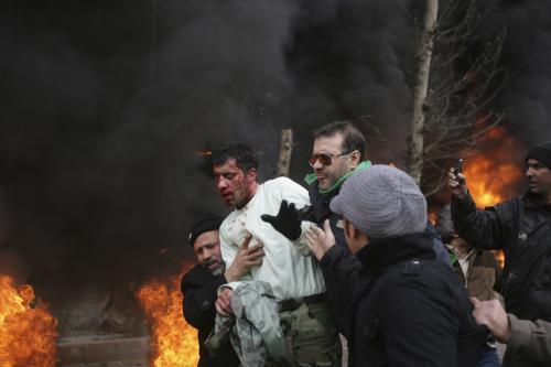 Nepokoje v ulicích Teheránu