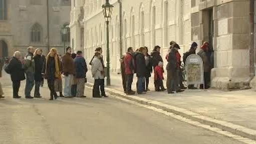Návštěvníci výstavy v Kutné Hoře