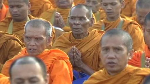 Modlitba buddhistických mnichů