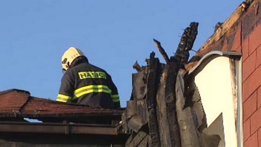 Vyšetřování požáru ve Vestci u Prahy