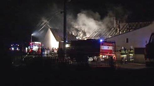 Požár v Melčanech