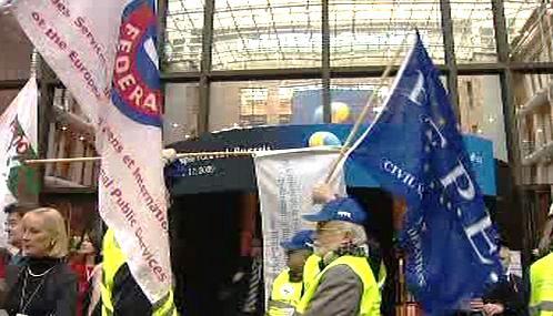 Stávka zaměstnanců EU
