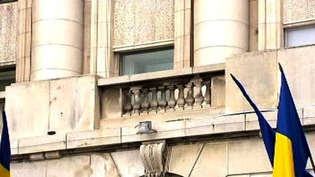 Balkón na Palacovém náměstí v Bukurešti