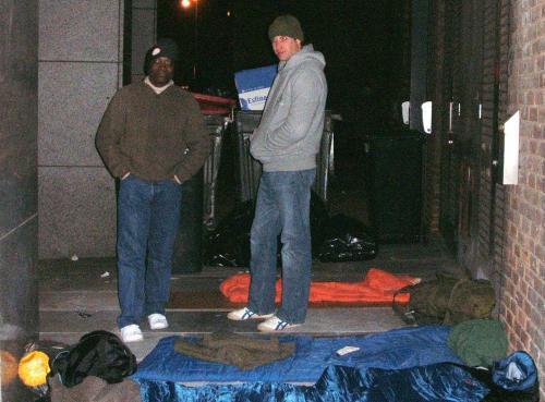 Britský princ William mezi bezdomovci