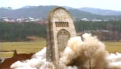 Demolice památníku válečným veteránům