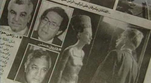 Egyptský tisk o Nefertiti