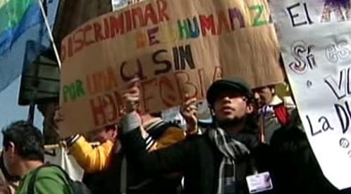 Demonstrace homosexuálů v Mexiku