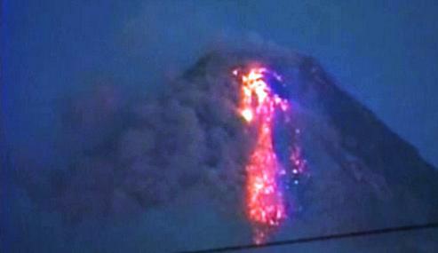 Filipínská sopka Mayon