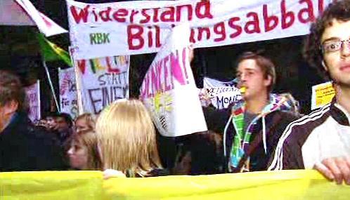 Protest rakouských studentů