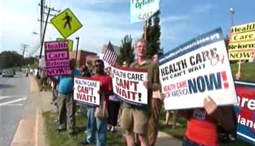 Demonstrace za zdravotnickou reformu v USA
