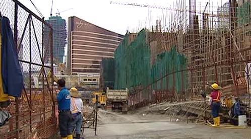 Stavba nových kasin v Macau