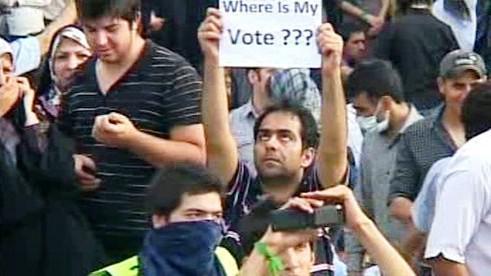 Protesty v Íránu proti výsledkům voleb
