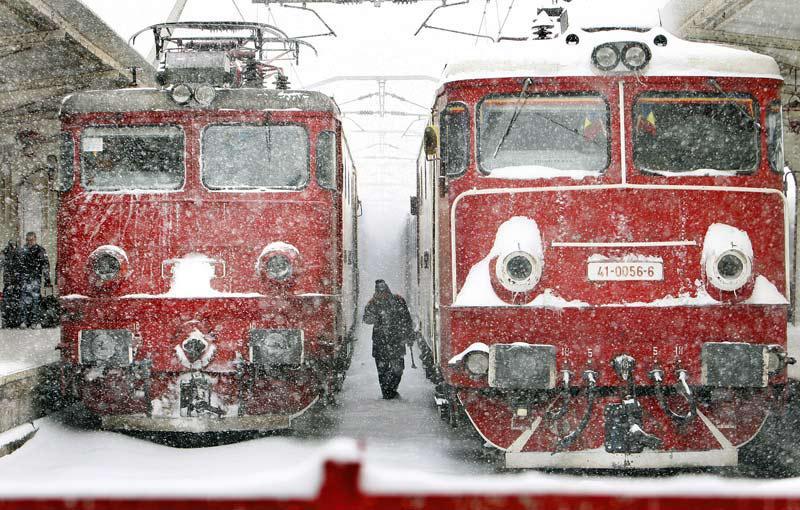 Zasněžené vlaky