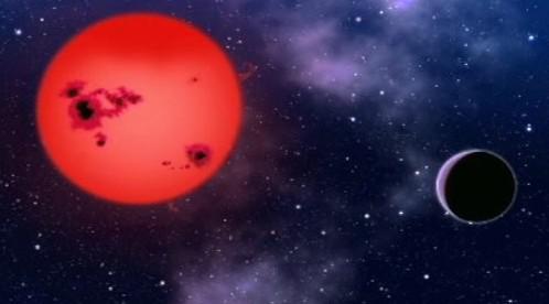 Planeta a červený trpaslík