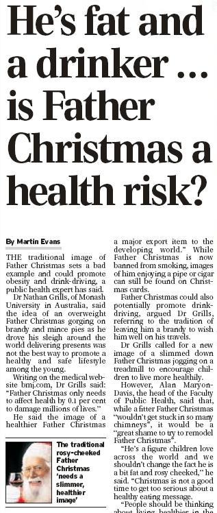 Daily Telegraph o Santově špatném příkladu