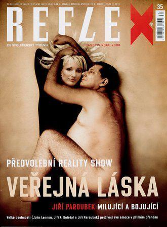 Manželé Paroubkovi ve fotomontáži Reflexu