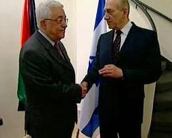 Mahmúd Abbás a Ehud Olmert