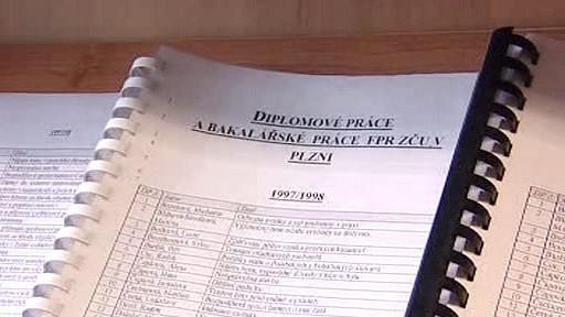 Seznam závěrečných prací na právnické fakultě v Plzni