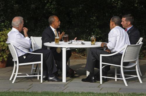 Posezení u piva v Bílém domě