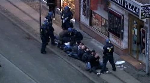Zásah policistů v Kodani