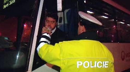 Kontrola řidiče autobusu