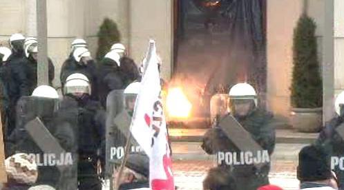 Demonstrace polských loďařů
