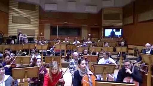Plzeňská filharmonie při zkoušce