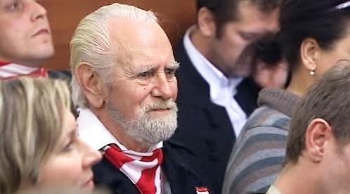Příslušník Maďarské gardy u soudu
