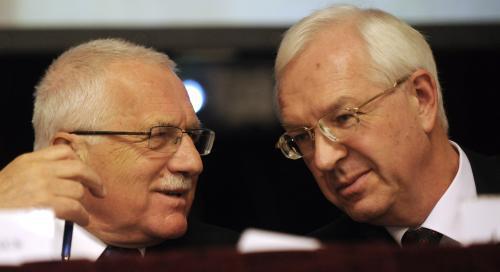 Václav Klaus a Jiří Drahoš