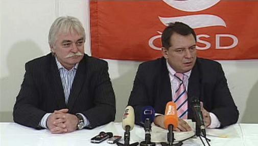 Milan Urban a Jiří Paroubek