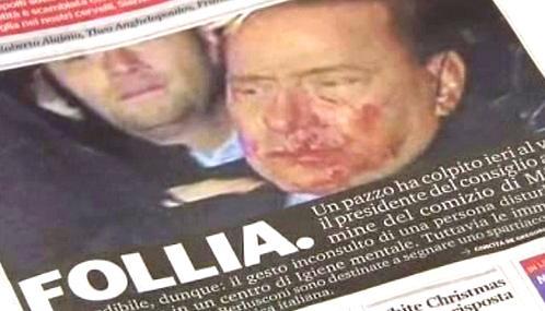 Italský tisk o útoku na Berlusconiho