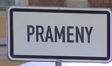 Informační tabule obce Prameny