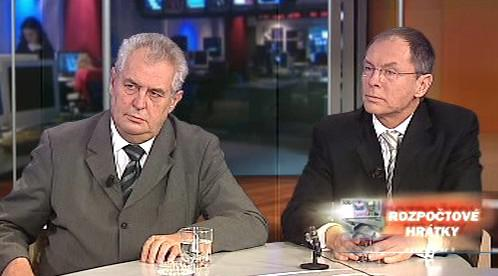 Miloš Zeman a Jan Švejnar