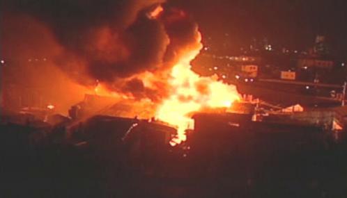 Požár v chudinské čtvrti v Manile