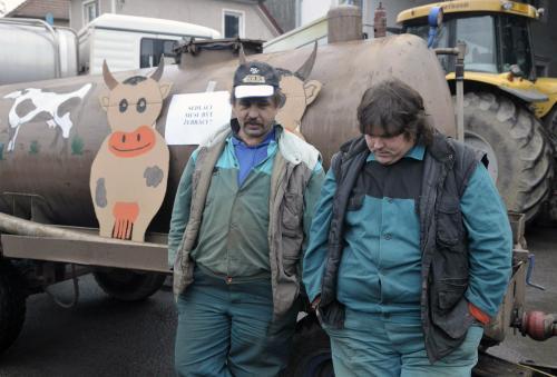 Blokáda mlékárny v Olešnici