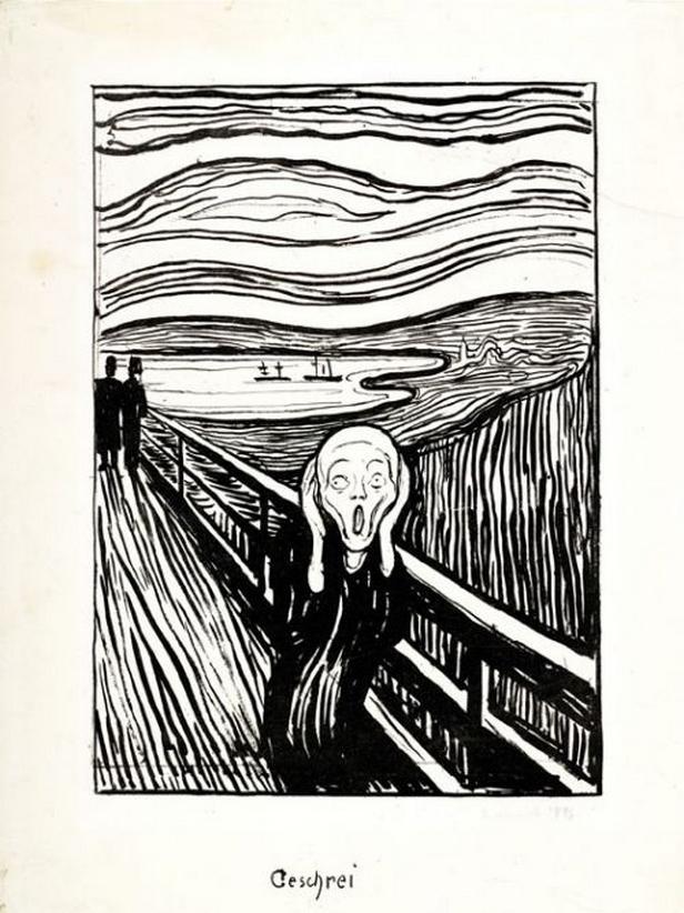 Edvard Munch: Výkřik (1895)
