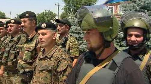 Vojáci v Čečensku