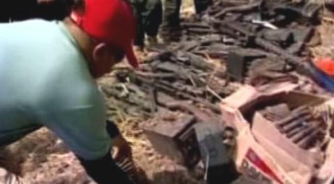 Zbraně zabavené filipínským povstalcům