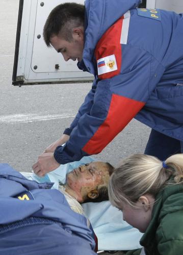 Muž zraněný při pořáru v Permu