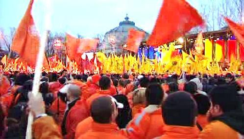 Předvolební shromáždění v Rumunsku