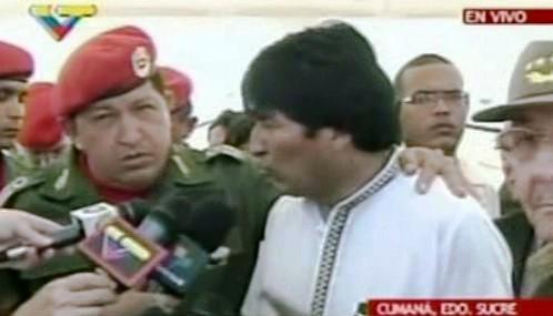 Hugo Chávez a Evo Morales