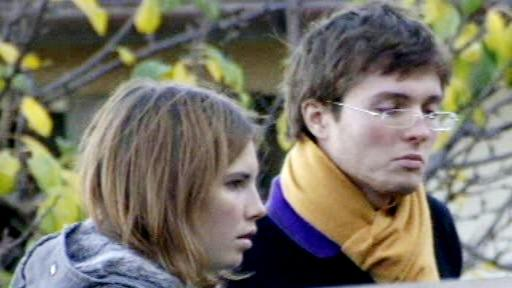 Amanda Knoxová s přítelem