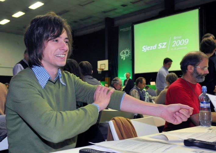 Matěj Stropnický na kongresu Strany zelených