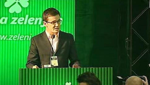 Ondřej Liška na kongresu Strany zelených