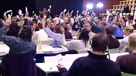 Hlasování delegátů na kongresu Strany zelených