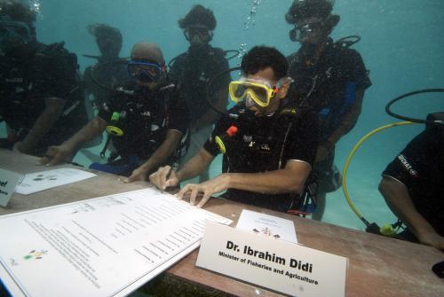 Netradiční zasedání vlády na Maledivách